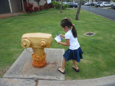 Secret Location #3: The fire hydrant.