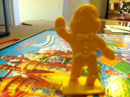 I won the inaugural game of Candy Land with the yellow man in honor of the Yellow Army. It was not a fortuitous omen.