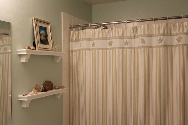 Funny story about the shower curtain: