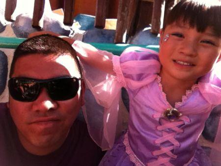 Princess Goobi, slumming it with dads.