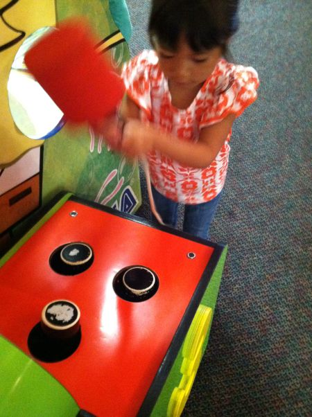 The hand-eye coordination has improved!
