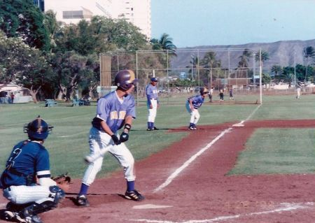 Squeeze. RBI. It was my dad's 38th birthday. We beat Kamehameha.