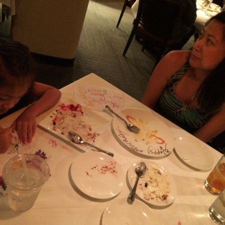 The remains of dessert.