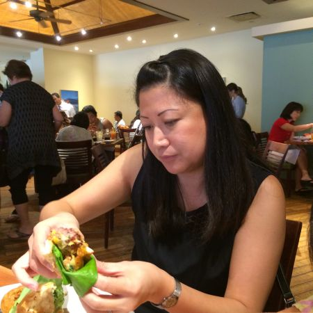 """""""I think I'm going to eat a salad for lunch."""" -Lynnette Higa, who thought wrong"""