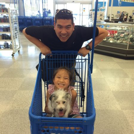 When I woke up this morning, I didn't think I'd be pushing my daughter and dog around Ross.